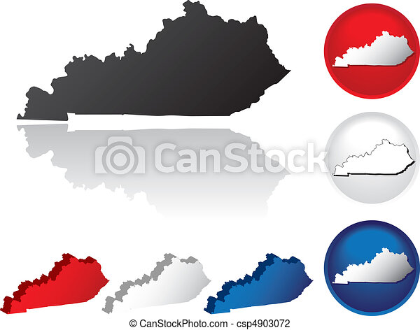 State of Kentucky Icons - csp4903072