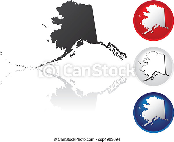 State of Alaska Icons - csp4903094