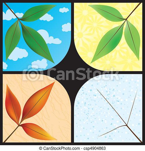 Leaves through the seasons - csp4904863