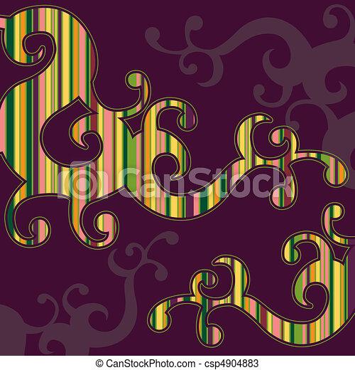 Swirly Striped Background - csp4904883