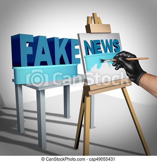 Fake News Media - csp49055431