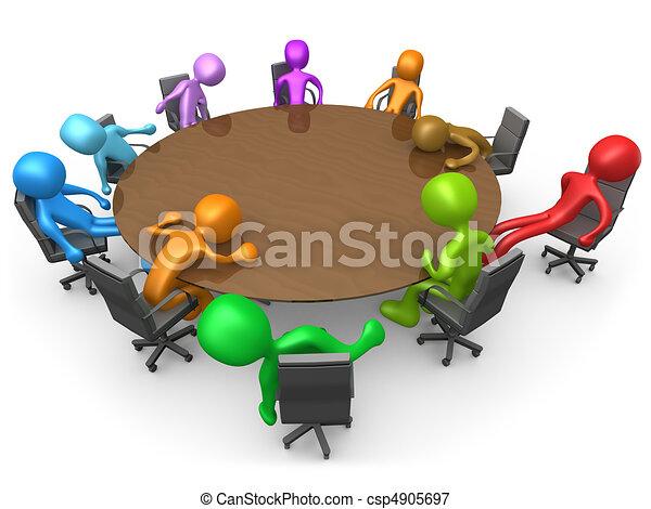Exhausting Meeting - csp4905697
