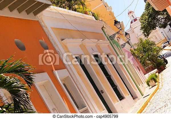 Colorful Old San Juan PR - csp4905799