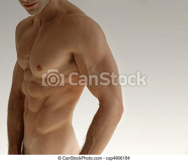 desnudo, hombre - csp4906184