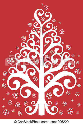 ornamental christmas tree - csp4906229
