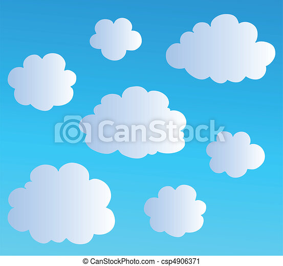 Cartoon clouds collection 3 - csp4906371