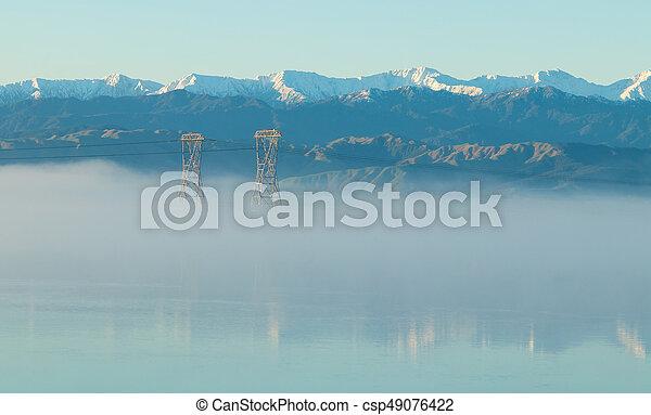 Tararua Rangers Winter MIst Morning - csp49076422