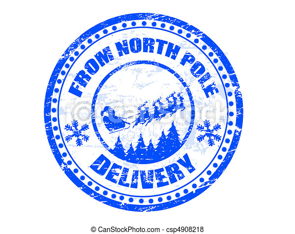 North Pole delivery stamp - csp4908218