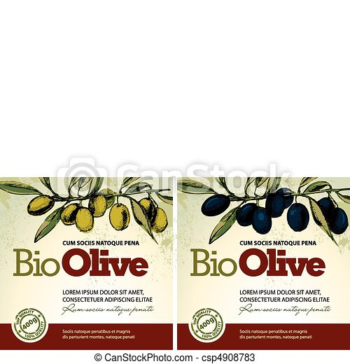 Olive oil labels  - csp4908783
