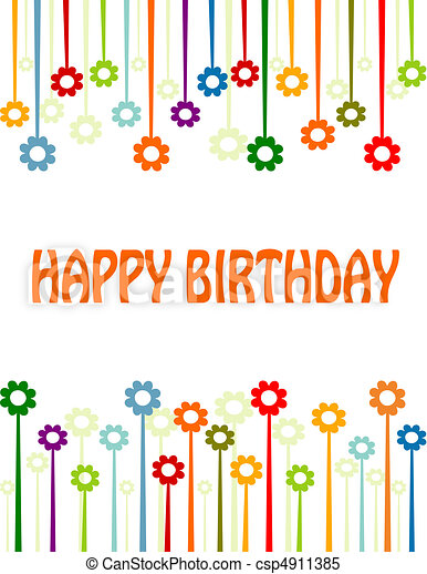 Happy birthday card - csp4911385