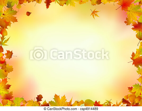 Fall leaves frame - csp4914489