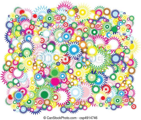 Vivid circles background  - csp4914746