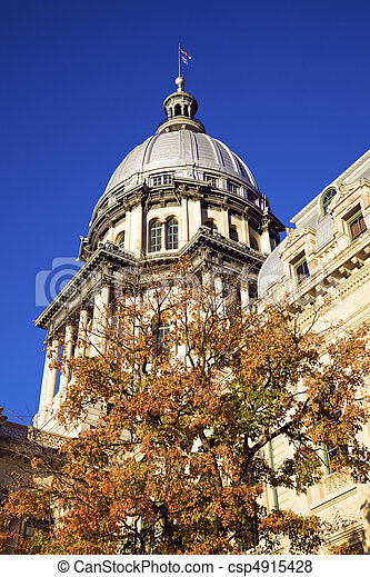 Springfield, Illinois - State Capitol - csp4915428