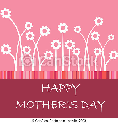Happy mother\'s day card with flower - csp4917003