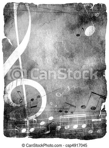 grunge musical background - csp4917045