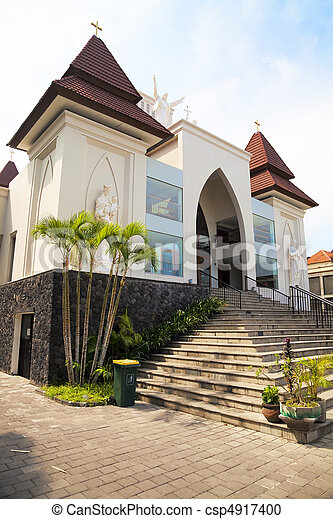 Kuta Catholic Church, Bali, Indonesia - csp4917400