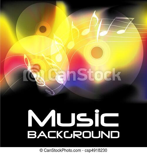 Burning Music Background - csp4918230
