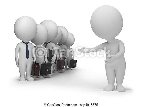 3d small people - clients - csp4918575