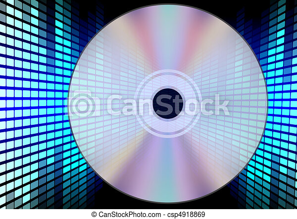 Compact Disc on Equalizer Background - csp4918869