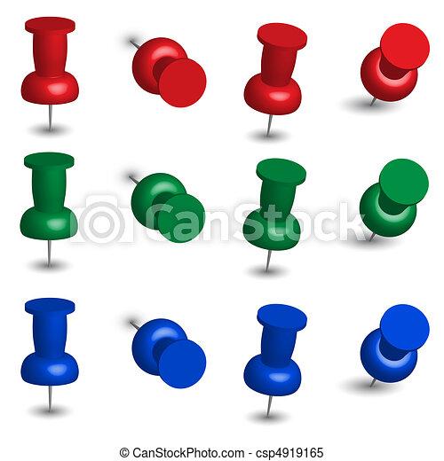 Set of Office Pins - csp4919165