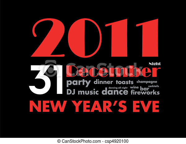 31 december 2011 - new year's eve - csp4920100