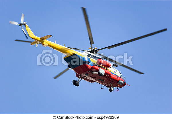 Fire and Rescue Helicopter - csp4920309