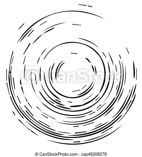 concéntrico, telón de fondo., patrón, elemento, círculos, vector, negro, geométrico, blanco, diseño, plano de fondo, illustration. - csp49208278