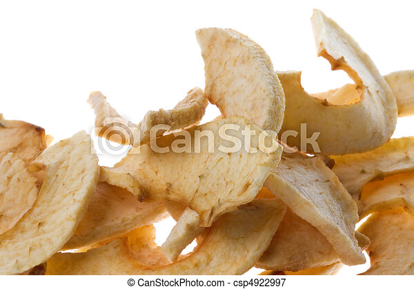 Dehydrated Apple Slices Isolated - csp4922997