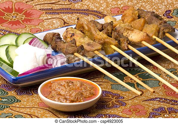 Malaysian Satay on Batik - csp4923005