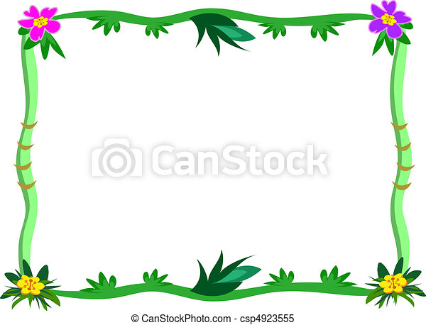 Frame of Tropical Stalks and Flower - csp4923555