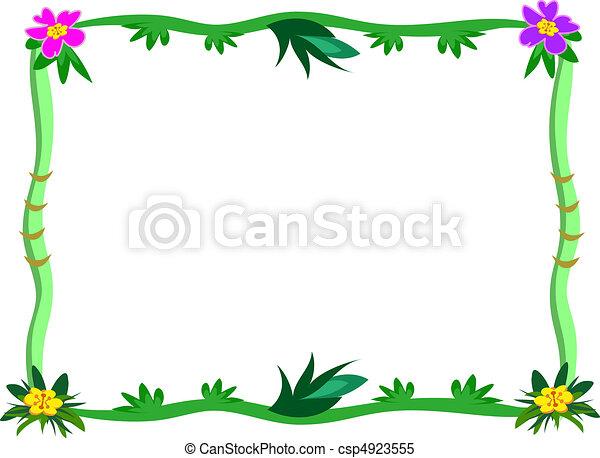 Vecteur clipart de exotique cadre fleur tiges here - Marcos para plantas ...