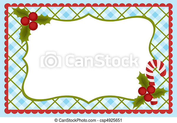 Vector Clip Art of Template for baby's Xmas photo album or ...