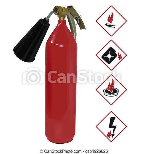 The fire extinguisher - csp4926626