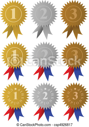 Award Medals / Ribbons - csp4926817