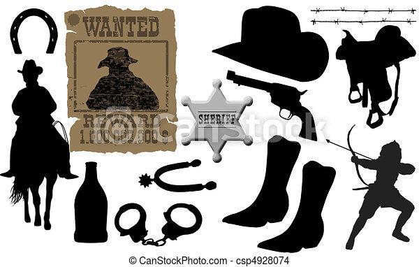 elements for cowboy life - csp4928074