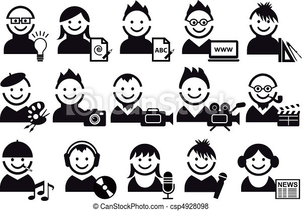 creative people, vector icons - csp4928098