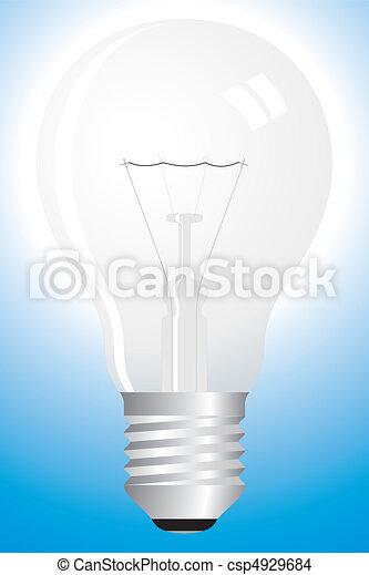 Clear bulb on blue - csp4929684