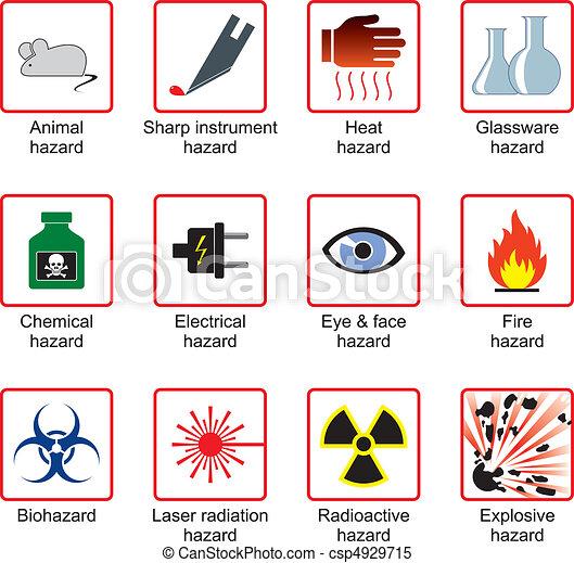 laboratório, segurança, SÍMBOLOS - csp4929715