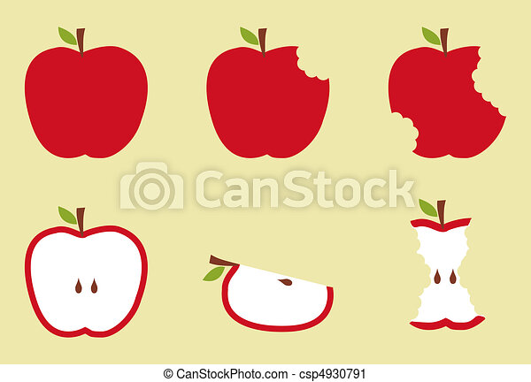 Red apple pattern illustration - csp4930791