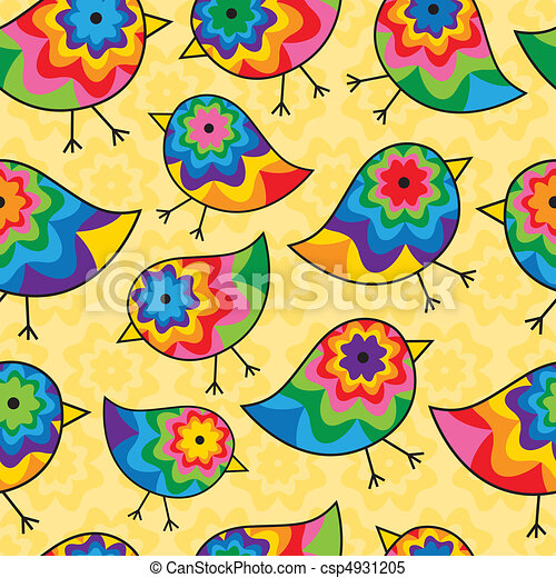 Repeating Chick Background - csp4931205