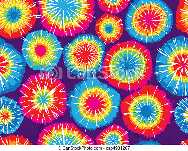 Seamless Repeating Tie Dye Background - csp4931207