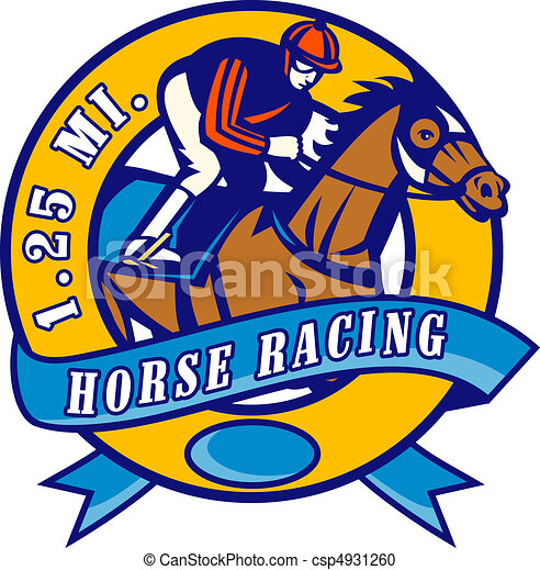 Horse Jockey Logo Horse And Jockey Racing