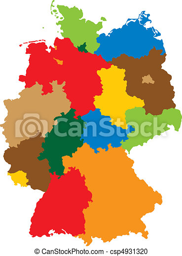 States of Germany - csp4931320