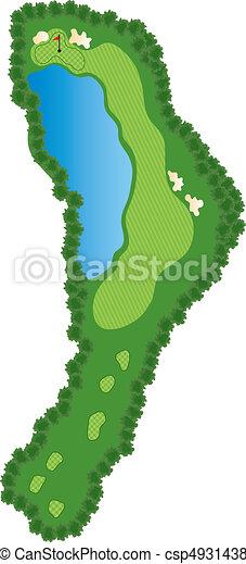 Golf Course Hole - csp4931438