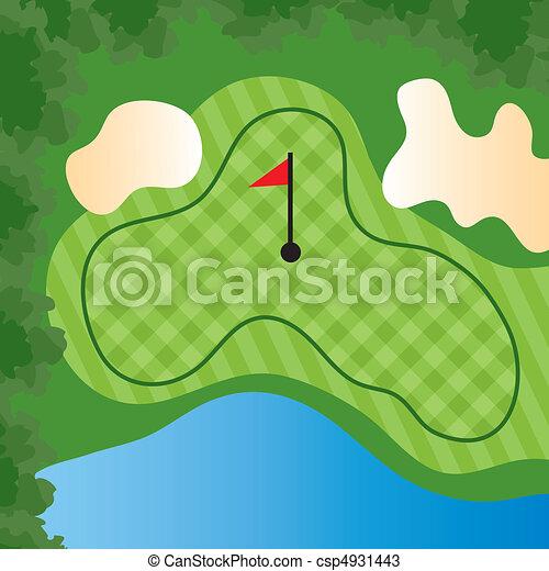 Golf Course Hole - csp4931443
