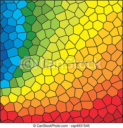 Stained Glass Rainbow - csp4931545