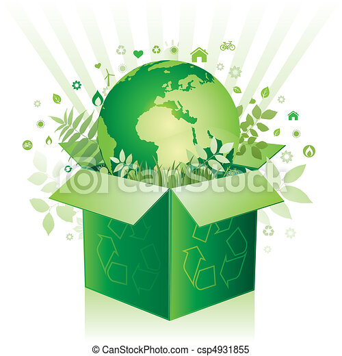 vector box and environment sign - csp4931855
