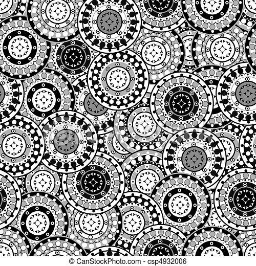 Illustration de seamless mod le noir et blanc for Dessin graphique noir et blanc
