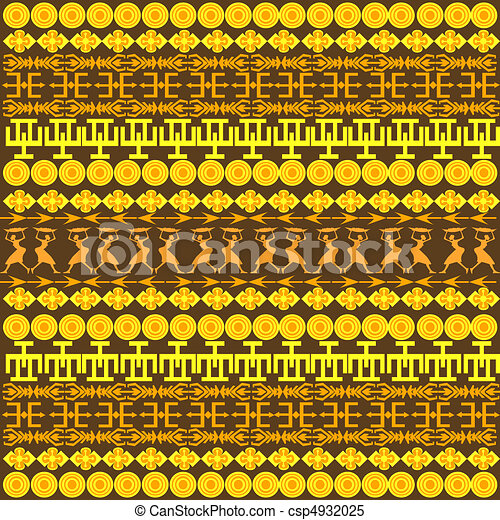 Stock Illustrations of Traditional African pattern ... Traditional African Patterns
