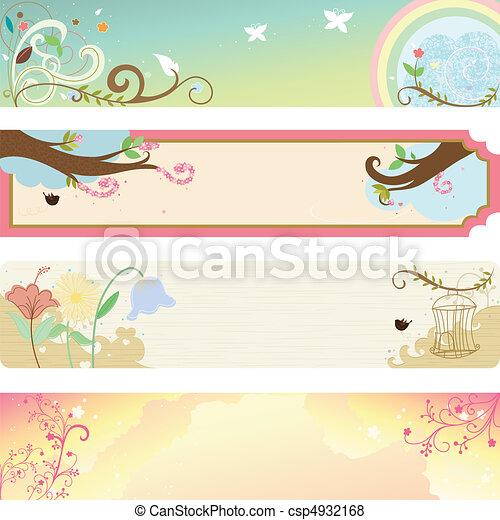 Spring season banner - csp4932168